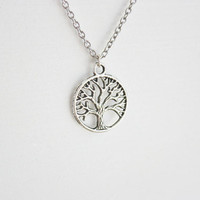 Tree of Life Necklace in Tibetan Silver