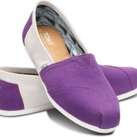Purple and White Women&#x27;s Campus Classics | TOMS.com