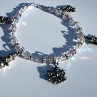 Holiday Crystal Charm Bracelet