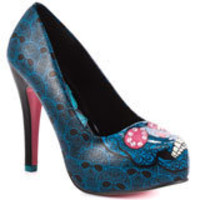 Savage Skull Heel - Turquoise, Iron Fist, &amp;#36;59.99, FREE 2nd Day Shipping!