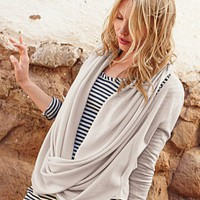 Draped Twist-Front Cardigan - Garnet Hill