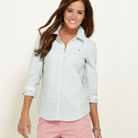 Women's Button Down Shirts: Sadie Striped Oxford Shirt – Vineyard Vines