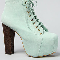The Lita Shoe in Mint Suede