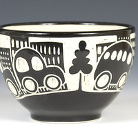 Tree in the City Bowl by Jennifer  Falter: Ceramic Bowl - Artful Home
