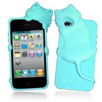 Amazon.com: Cute Kiki Cat Silicone Case Cover for iPhone 4/ iPhone 4S (BabyBlue): Everything Else