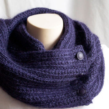 Infinity Scarf Knitting Pattern Mohair : Knitting Pattern Cowl Infinity Scarf Knit from ...