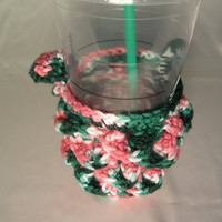 Green/Pink Demi Scaly Coffee Cozy