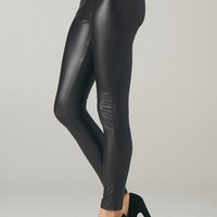 Back Faux Leather Pant Leggings