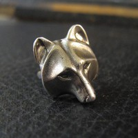 Wolf Mask Ring Hand Polished Metal Moon Raven Designs by mrd74