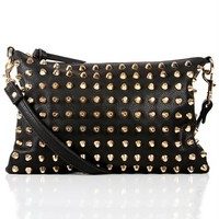 Black Cross Body Studded Handbag