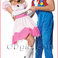 Nintendo Super Mario Handyman Costume and Princess Peach Costume - ODGirl.com