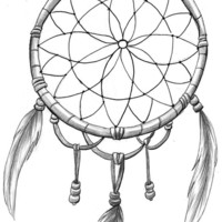DreamCatcher temporary tattoo 9x5cm