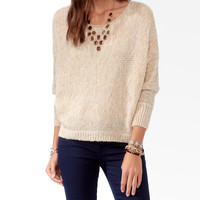 Metallic-Blend Dolman Sweater