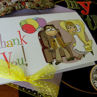 Thank You CardsInspired by UP  Set of 20  by littletoad on Etsy