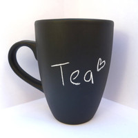 Chalkboard mug -  custom mug - cute gift