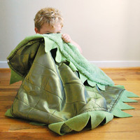 Green Dragon Cuddle Blanket