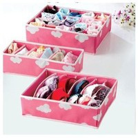 Pereia Drawer Organisers 3 Pack Pink - Lolly: Amazon.co.uk: Kitchen & Home