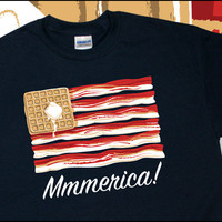 MMMMMMERICA Bacon T-Shirt S-XL