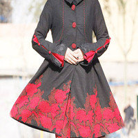 Charming woolen dress coat  coat  (E53490934)