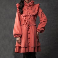 vintage clothing winter coats for women(002)