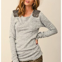 Dolan - Rhinestone Patch Sweatshirt