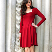Little Flared Dress  red dress shown  by JRoseAtelier on Etsy