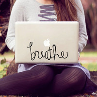 large breathe laptop decal