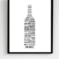 For all red wine lovers A sleek list of red by Ilovedesign2010