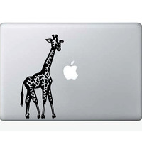 Seductive Giraffe Laptop Decal