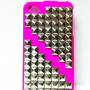 Hard Cover I-Phone Case with Gold Stud Detail