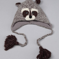 Knitwits by DeluxGray Robbie the Raccoon Earflap Hat