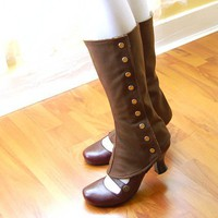autumn tall spats with lining  standard or custom size by faitavec
