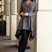 Double breasted coat, legging, boots from VENUS