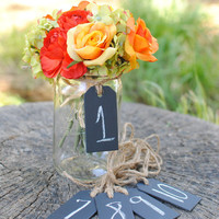 Chalk Board Tags Set of 10 For Table Numbers by RiverRoadRustics