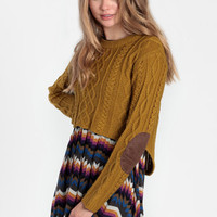 Unearthed Elbow Patch Sweater - $54.00: ThreadSence, Women&#x27;s Indie &amp; Bohemian Clothing, Dresses, &amp; Accessories