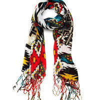 ideeli | KC SIGNATURES Bold Tribal Print Scarf