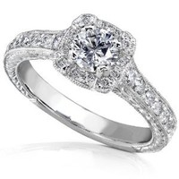 3/4ct TW Round Brilliant Diamond Engagement Ring in 14kt White Gold - Size 5