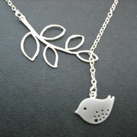 sweet little mod bird lariat matte white by Lana0Crystal