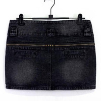 Zipper Denim Shorts$39.00