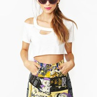 Versace Movie Print Shorts