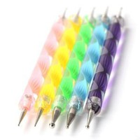 Nail Art Dotting Tools / Dotting Pens- Set of 5 Double Ended Nail Art Dotting and Marbling Tools with 10 Different Doting Sizes By Cheeky.: Amazon.co.uk: Beauty