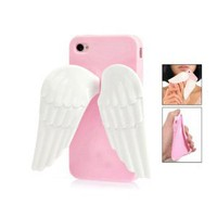 Amazon.com: Pink 3D Angel Wing Silicone Stand Case Cover for iPhone 4 4G 4S: Cell Phones &amp; Accessories