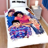 Amazon.com: One Direction 'Crush' Panel Single Bed Duvet Quilt Cover Set: Home & Kitchen