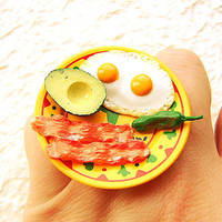 TexMex Breakfast Ring Eggs Bacon Avocado by SouZouCreations