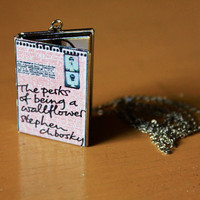 The Perks of being a Wallflower Locket - Book Pendant