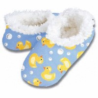 Snoozies Ducky Slippers- Blue - Lucky Duck