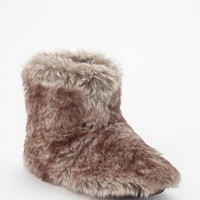 Faux Fur Slipper-Sock Boot