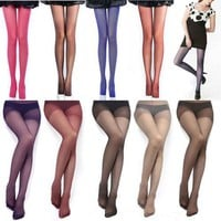 Women's Semi Opaque Tights Pantyhose Colors Stockings Sweetpea panty-hose AAJ