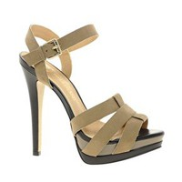 River Island Umbrel Strappy Heeled Sandals at asos.com