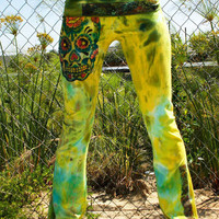 830 SKULLY ROO Custom Yoga Pants